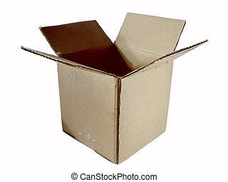 caixa, aberta