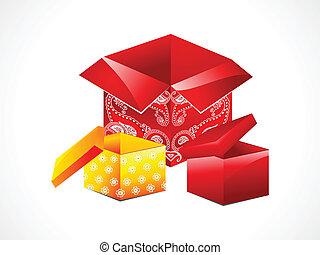caixa, abstratos, jogo, magia
