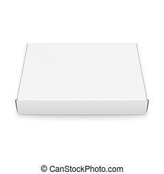 caixa, adelgaçar, template., papelão