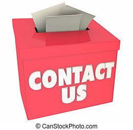 caixa, ajuda, adquira, realimentação, ilustração, contactar-nos, perguntas, perguntar, 3d