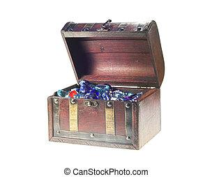 caixa, antigas, vidro