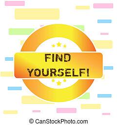 caixa, award., colorido, negócio, tornar-se, foto, mostrando, yourself., etiqueta, forma, retangular, selfsufficient, mão, estrelas, coisas, conceitual, escrita, você mesmo, texto, achar, redondo