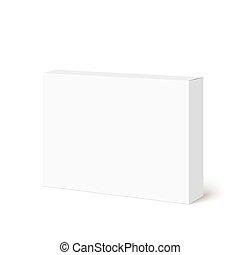 caixa, branca, pacote