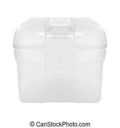 caixa, branca, plástico