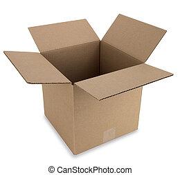 caixa, caminho, abertos
