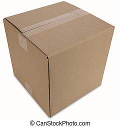 caixa, caminho, fechado