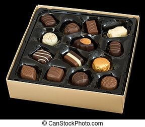 caixa, chocolate