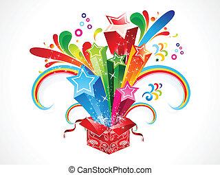 caixa, colorido, abstratos, magia