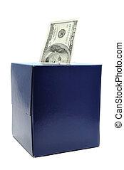 caixa, conta, dólar, um, tecido, cem