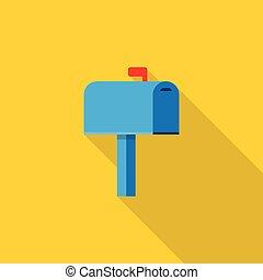caixa, correio, ícone
