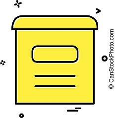 caixa, correio, vetorial, desenho, ícone