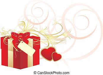 caixa decorativa, arco vermelho