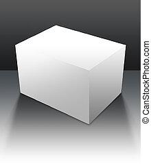 caixa, em branco, 05