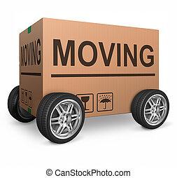 caixa, em movimento