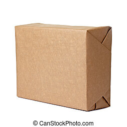 caixa, embrulhando, recipiente, pacote