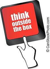 caixa, entrar, exterior, vetorial, tecla, teclado, mensagem, palavras, pensar