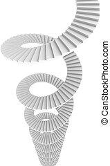 caixa espiralada escada