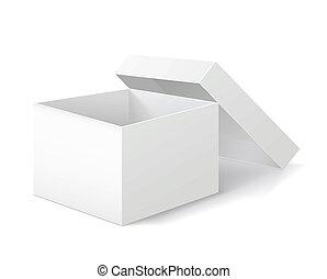 caixa, experiência., embalagem, branca