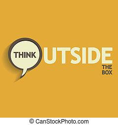 caixa, exterior, desenho, pensar