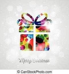 caixa, feliz, presente, abstratos, ilustração, vetorial, desenho, fundo, feriado, brilhante, natal