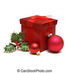 caixa, feriado, presente