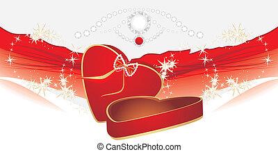 caixa, feriado, vermelho