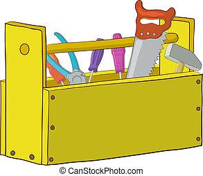 caixa, ferramenta