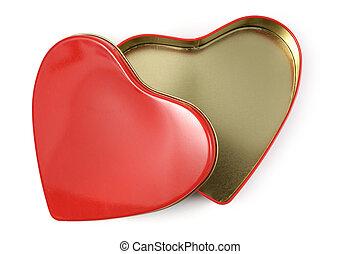 caixa, heart-shaped, presente