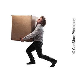 caixa, homem