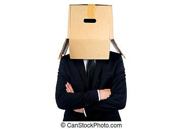 caixa, homem negócio
