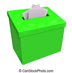 caixa, idéias, submeta, verde, comments, sugestão
