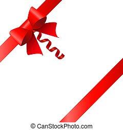 caixa, ilustração, experiência., vetorial, ribbons., branca