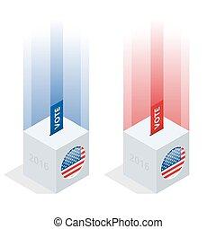 caixa, infographic., nós, eleição, 2016, voto