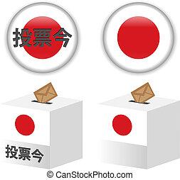 caixa, japoneses, /, eleições, voto, japão, poll, voto