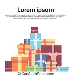 caixa, jogo, coloridos, presente, cobrança, bandeira, presente