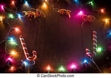 caixa, madeira, presente natal, tabela