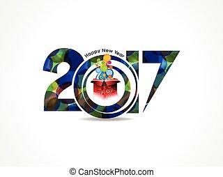 caixa, magia, coloridos, abstratos, fundo, ano, novo, feliz