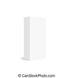 caixa, pacote, branca