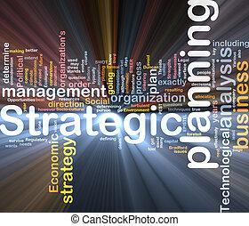 caixa, palavra, pacote, planejamento estratégico, nuvem