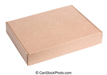 caixa, papelão, em branco, pacote