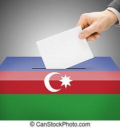 caixa, pintado, nacional, -, azerbaijão, bandeira, voto