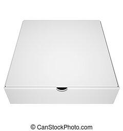 caixa, pizza, fechado, sob