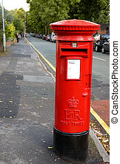 caixa postal, britânico