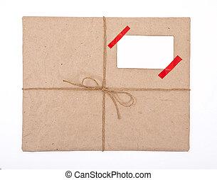 caixa, poste, papel, pacote