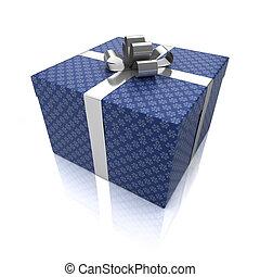 caixa presente, com, padrões