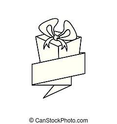 caixa, presente, presente, fita