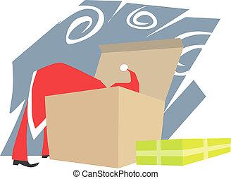 caixa, presentes