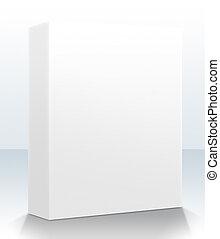 caixa, produto, em branco