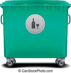 caixa, reciclagem, verde