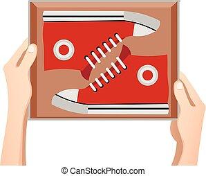 caixa, sneakers